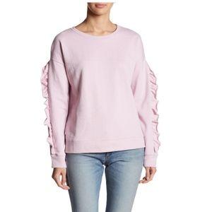 Sanctuary Pink Ruffle Trim Sweatshirt
